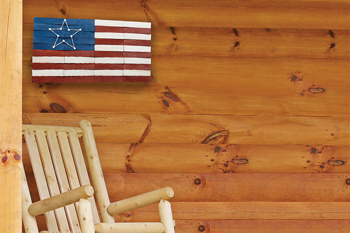 Rustic Wood Shim Flag