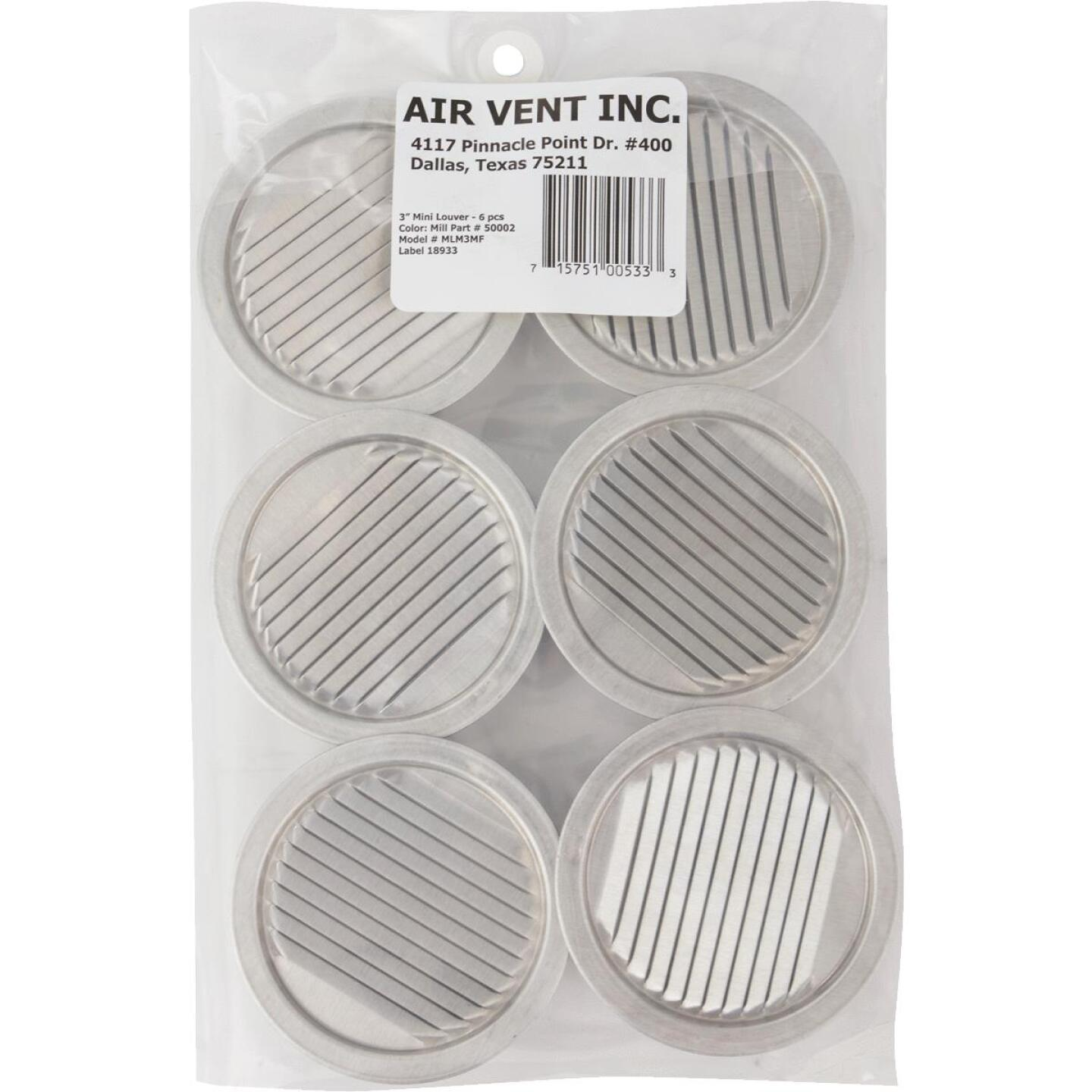 Air Vent 3 In. Aluminum Mini Louver (6 Count) Image 3