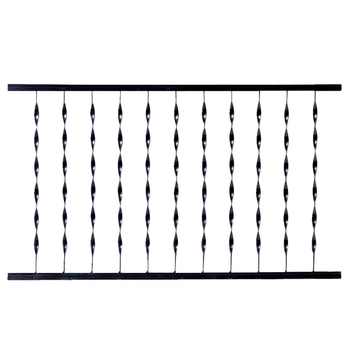 Gilpin Windsor Plus 32 In. H. x 6 Ft. L. Wrought Iron Railing Image 1
