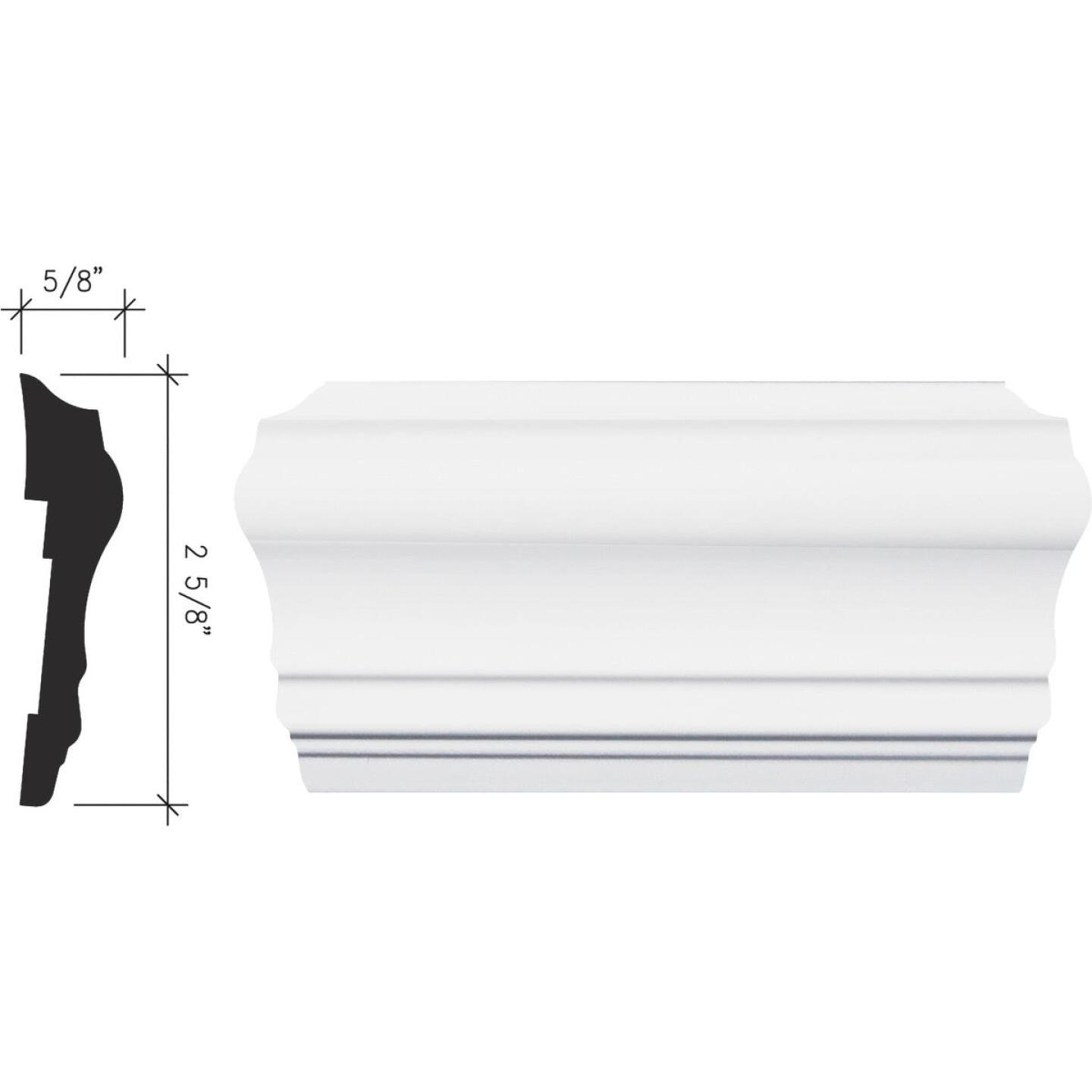 Inteplast Building Products 5/8 In. x 2-5/8 In. x 8 Ft. Crystal White Polystyrene Chair Rail Molding Image 1