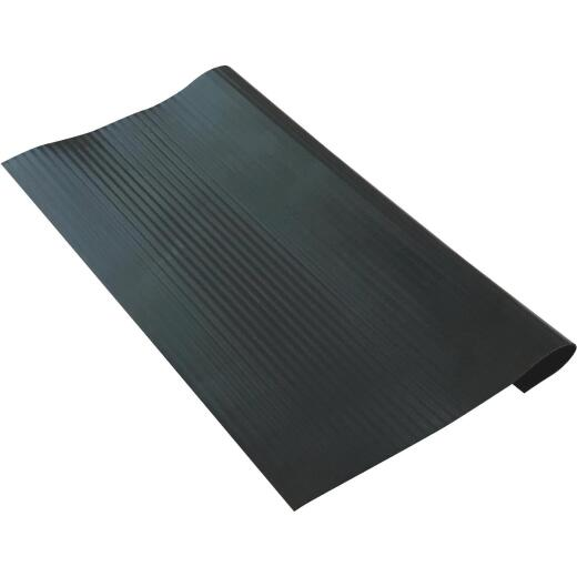 Tenex Black 9-7/8 In. x18 In. Vinyl Stair Tread Hard Floor Protector