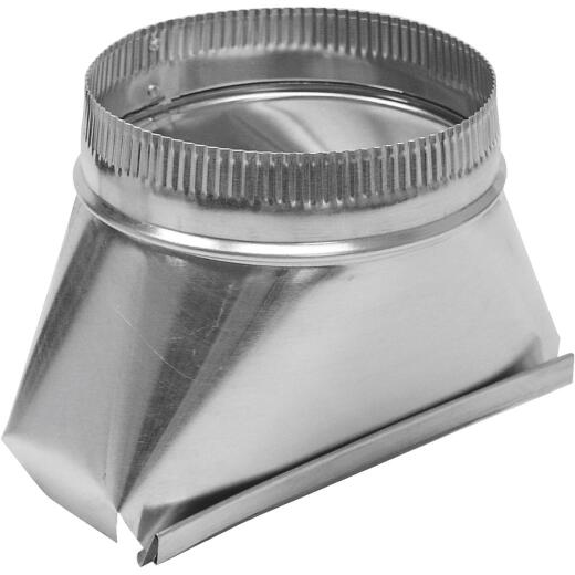 Lambro 7 In. Galvanized Standard Round Transition Boot