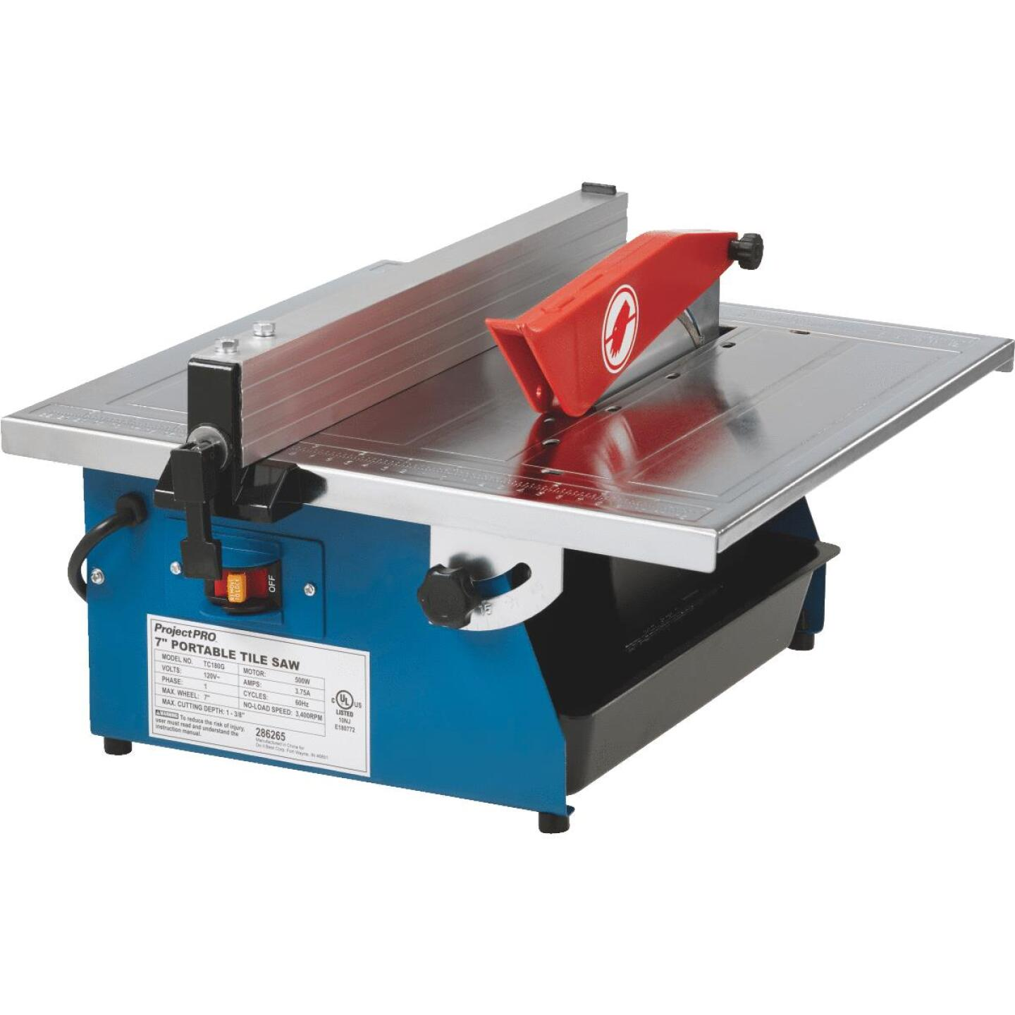 Project Pro 7 In. Portable Tile Saw Image 12