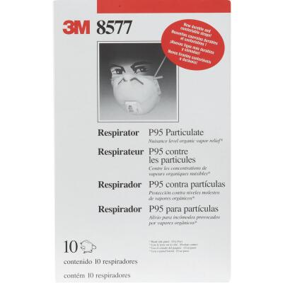 3M P95 Particulate Respirator with Nuisance Level Organic Vapor Relief (10-Pack)