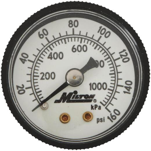Milton 1/8 In. NPT Back Mount Mini Pressure Gauge