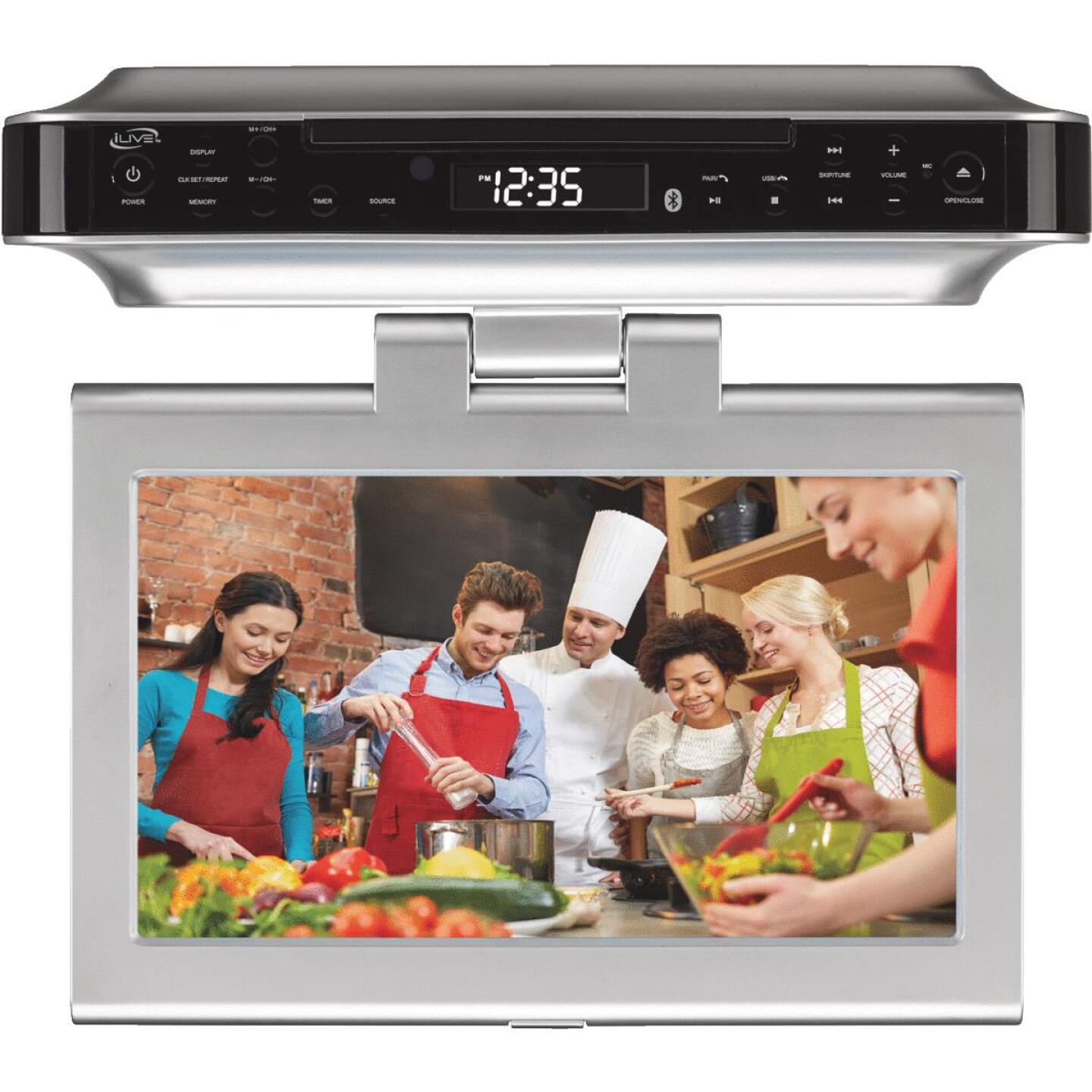 iLive Wireless Under Cabinet TV DVD and Music System Image 1