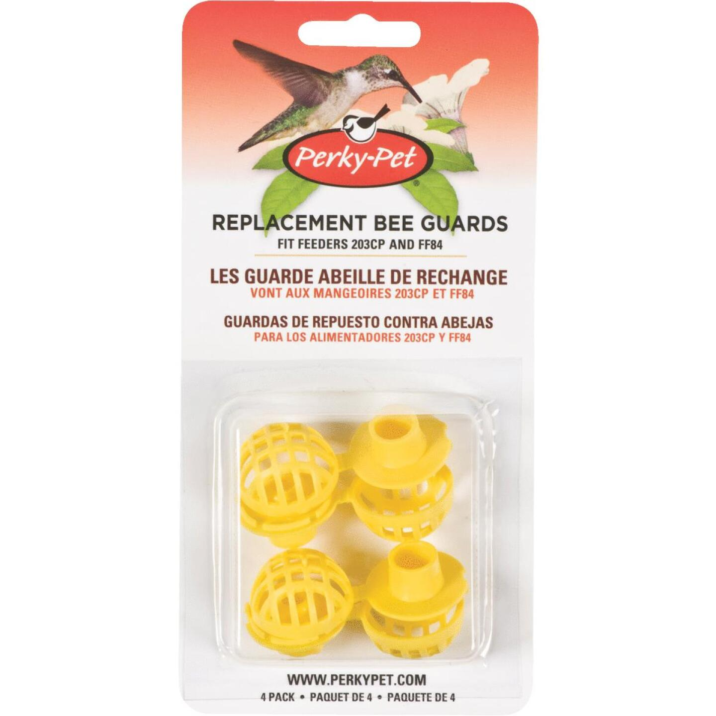 Perky-Pet Yellow Plastic Hummingbird Feeder Replacement Bee Guard (4-Pack) Image 1
