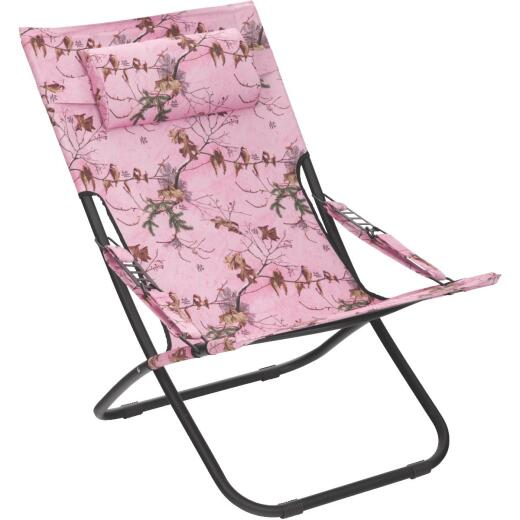 Outdoor Expressions Folding Pink Real Tree Hammock Chair