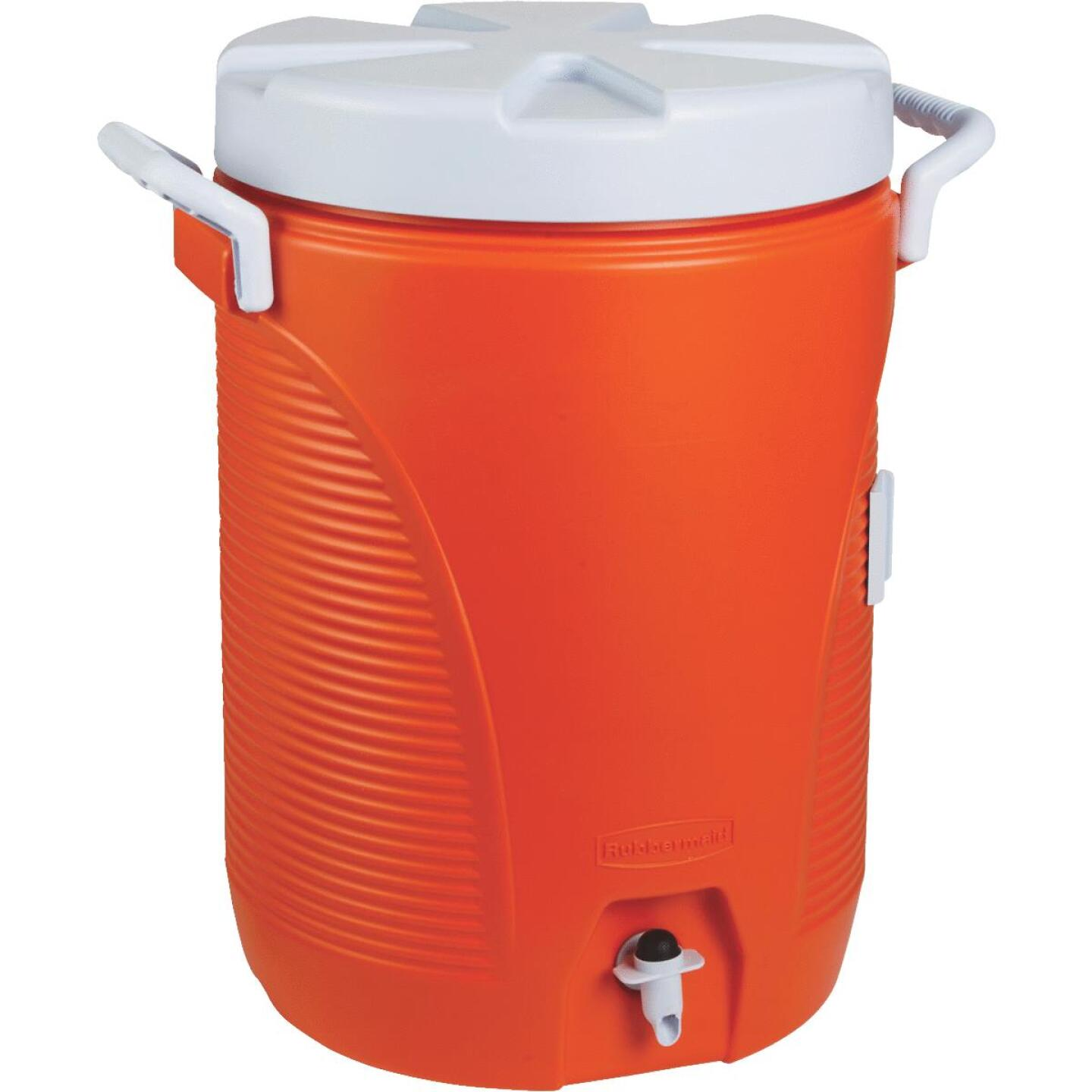 Rubbermaid 5 Gal. Orange Water Jug with Carry Handle Image 1