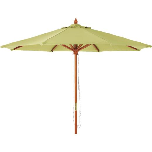 Outdoor Expressions 7.5 Ft. Pulley Sage Market Patio Umbrella with Brass Plated Hardware