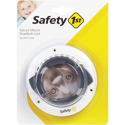 Safety 1st White Plastic Secure Mount Deadbolt Lock